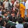H. H. Dalai Lama with School Children, Dharamsala