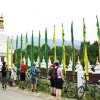 Prayer flags and chortens